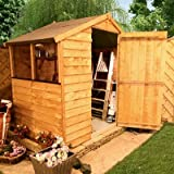 BillyOh 4'x6' Classic Value Overlap Wooden Garden Shed