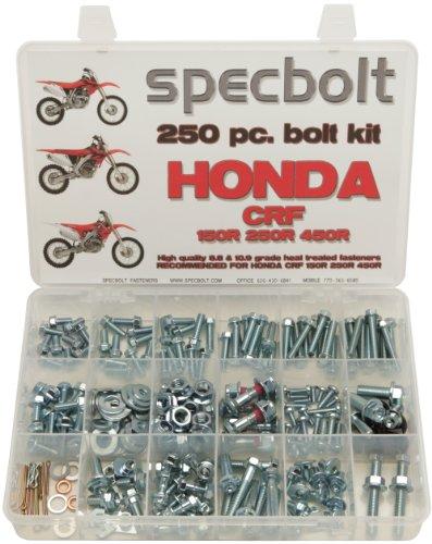 250pc Specbolt Honda CRF150 CRF250 CRF250 Bolt Kit Maintenance & Restoration of MX Dirtbike OEM Spec Fasteners CRF 150 250 450
