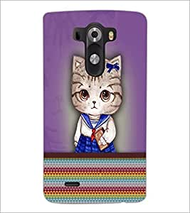 PrintDhaba Kitty D-3759 Back Case Cover for LG G3 (Multi-Coloured)