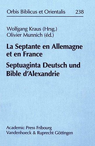 la septante en allemagne et en france septuaginta deutsch und bible dzalexandrie ebay. Black Bedroom Furniture Sets. Home Design Ideas
