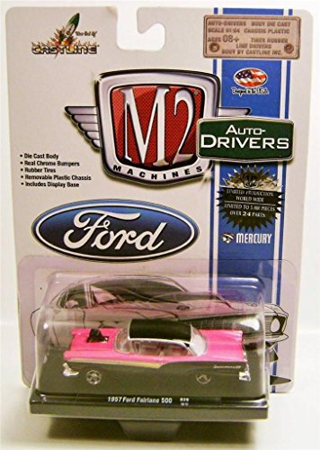 M2 Machines Auto-Drivers 1957 Ford Fairlane 500 Pink & Black R29 14-12