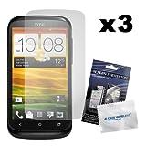 PrimaCase - Pack de 3 - Film de Protection d'écran / écran protecteur pour HTC Desire X
