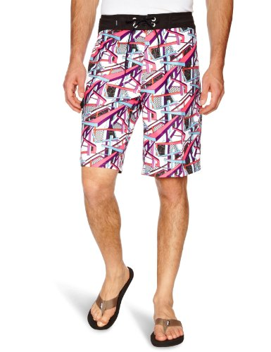 Hot Tuna High Beams Board Mens Swim Shorts White W32 IN