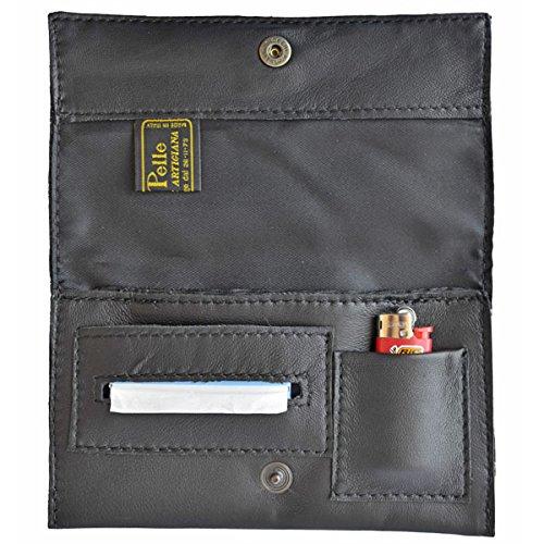 Portatabacco borsello in vera pelle nurem pellein - Porta pacchetto sigarette amazon ...
