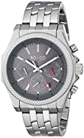 SO&CO York Men's 5003.2 Monticello Analog Display Japanese Quartz Silver Watch by SO&CO New York