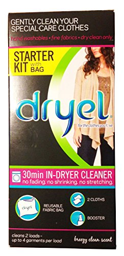 Dryel At-Home Dry Cleaning Starter Kit, Clean Breeze Scent 1 kit (Dry Cleaner Starter Kit compare prices)