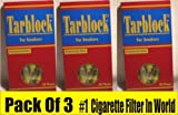 Tarblock 3 Packs of Cigarette Filters for Smokers