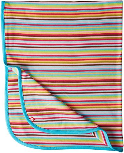 Zutano Baby-Girls Newborn Super Stripe Swaddle Blanket, Multi, One Size - 1
