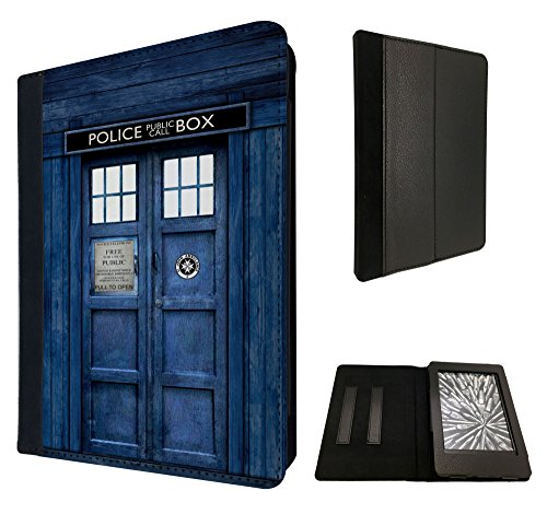 Doctor Who Tardis Police Call Box Design Fashion Trend Amazon Kindle Paperwhite Paper White 6'' 6 inch TPU Leather full Case Flip Cover