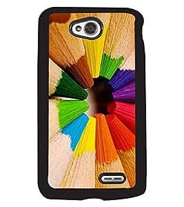 Fuson 2D Printed Color Designer back case cover for LG L70 - D4381