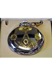 Masonic Pocket Watch- High Polish Chrome Finish