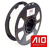 AIO Robotics AIOWHITE PLA 3D Printer Filament, 0.5 kg Spool, Dimensional Accuracy +/- 0.02 mm, 1.75 mm, White