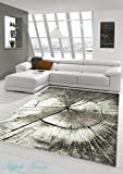 Tappeto Designer Tappeto moderno zona tappeto in stile barocco pedigree legno ottica a Marrone Beige Grigio Crema Größe 200 x 290 cm