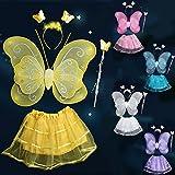 妖精衣装4点セット キッズコスチューム 黄色 女の子用 100cm-130cm