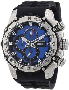 Nautec No Limit Herren-Armbanduhr XL D2X Chronograph Quarz Kautschuk DT QZ/RBSTSTBL-BK