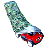 WeatherPRO Lawn Mower Cover - Waterproof Heavy Duty Camo Style - Manufacturer Guaranteed - Weather and UV Protected Covering for Push Mowers - Large Size for Universal Fit
