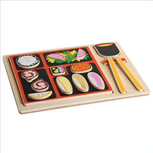 Guidecraft Sorting Food Tray - Japanese Pretend Play Toy G463 - 1