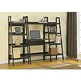 "Avenue Greene 60"" Black Ladder Frame Bookcases (Set of 2), Sturday Metal Frame"