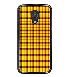 Fuson Premium 2D Back Case Cover Yellow Pattern With red Background Degined For Motorola Moto G2 X1068::Motorola Moto G (2nd Gen)