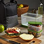 Sporty Insulated Lunch Bag with Lunch on the Go Container Set, BPA-Free (Black)