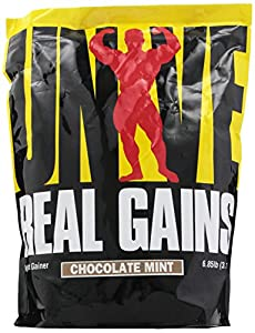 Universal Nutrition Real Gains Mint Chocolate Chip Nutrition Supplement, 6.85 Pound