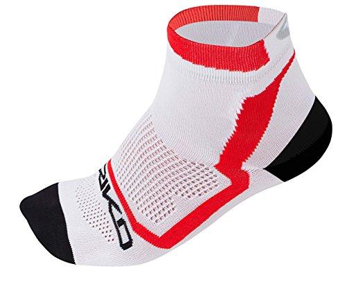 Briko Extreme Pack 3 Calza Sportiva 9 cm, White/Black/Red, S