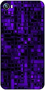 Snoogg purple digital 2422 Designer Protective Back Case Cover For Micromax Canvas Fire 4 A107