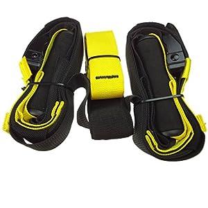 LIHAO - Cuerdas de suspensión para entrenamiento de ejercicios fitness: fortalecimiento, resistencia y tonificación muscular