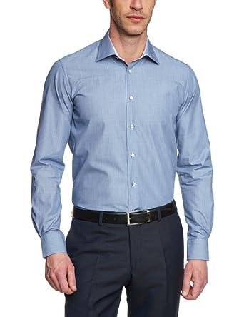 Tommy Hilfiger Tailored Herren Businesshemd Johny SHTSTP14201 / TT87848558, Gr. 42, Blau (429)
