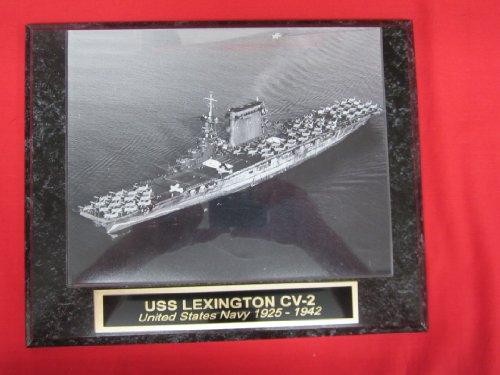 us-navy-uss-lexington-cv-2-collector-plaque-w-8x10-photo