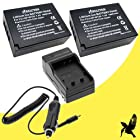Two Halcyon 1800 mAH Lithium Ion Replacement Battery and Charger Kit for Fujifilm NP-W126 and Fujifilm X-E1, X-M1, X-Pro1, Finepix HS30EXR, HS33EXR, HS35EXR, HS50EXR Digital Cameras