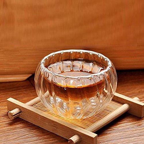 Aliciashouse 3Pcs 50ml haute température résistant Verre Forme thé Coupe Citrouille Coupe en verre