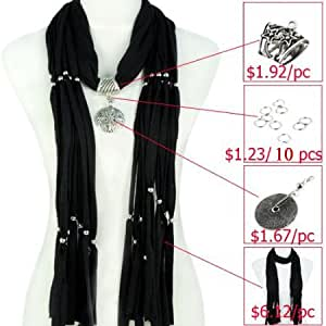 Scarf Accessories, DIY Scarf, Make Jewelry Scarf Yourself, Different Pendant, Colors Available