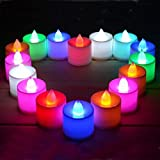 Kihika 12 Pcs / Lot Smoke Free Led Tea Lights RC Power Plastic Led Wax Candle In The Home Party Wedding Decoration...