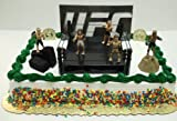 UFC Ultimate Fighting Championship Birthday Cake Topper Set Featuring 5 Random UFC Figures and Decorative Themed Pieces