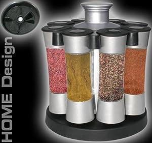 Gewürzregal Gewürz Gewürzständer Küche 8 Dosen Modell ELECSA 1226
