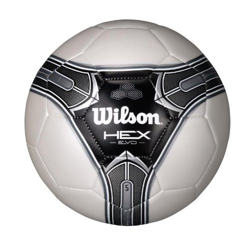 Wilson Hex Soccer Ball (White/Black, Size 3)