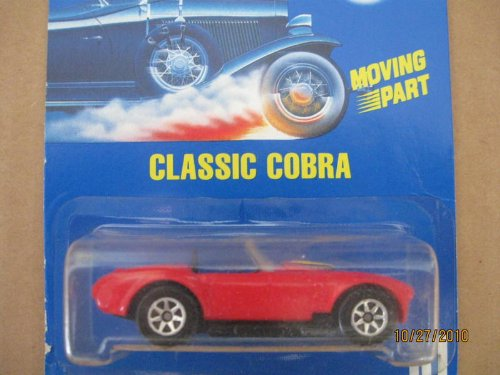 Hot Wheels 1991-31 Classic Cobra All Blue Card 1:64 Scale