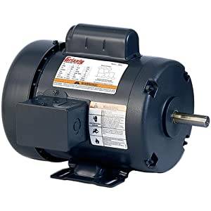 Grizzly h5374 motor 1 2 hp single phase 1725 rpm tefc 110v for 7 5 hp 220v single phase motor