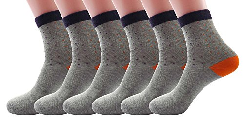 Silkworld Women'S Cotton Colorful Socks Pack Of 6 Gray