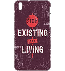 a AND b Designer Printed Mobile Back Cover / Back Case For HTC Desire 816 (HTC_816_3D_1912)