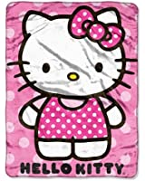 Sanrio, Hello Kitty, Kitty Dot 46-Inch-by-60-Inch Micro-Raschel Blanket by The Northwest Company