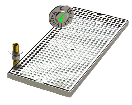 Surface Mount Drip Tray with Drain 8
