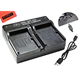 BM Premium EN-EL23 USB Dual Battery Charger for Nikon Coolpix B700, P900, P600, P610, S810c Digital Camera
