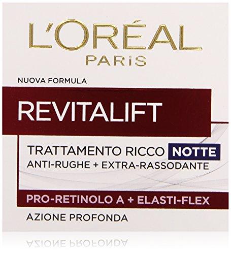 L'Oréal Paris Revitalift Crema Viso Anti-Rughe Notte, 50 ml