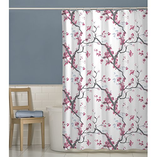 Marvelous Japanese Cherry Blossom Shower Curtains. Cherrywood Fabric Shower Curtain