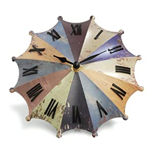 Umbrella Desk Clock - Rainbow by Princess International