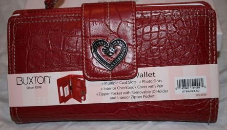 Buxton Super Wallet - Red