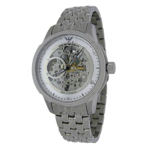 Amazon.com: Emporio Armani AR4626 Meccanico Open Heart Mens Watch