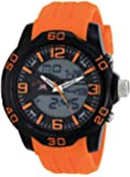U.S. Polo Assn. Sport Men's US9476 Analog-Digital Watch With Orange Silicone Band